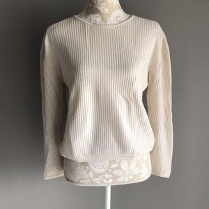 Charter Club Cashmere Off White Sweater L